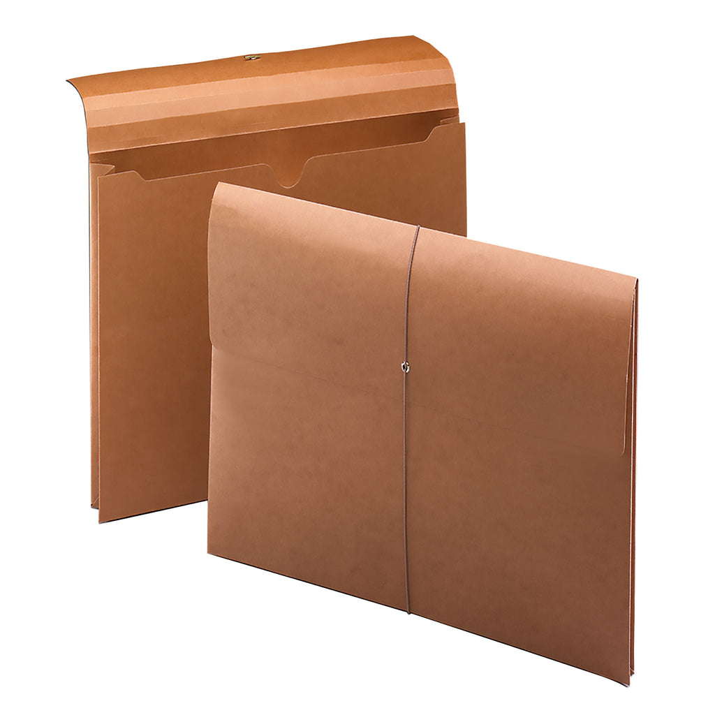 "Smead Wallet, 2"" Expansion,100% Recycled, Letter Size, Elastic Closure, Redrope, 10 per Box (77170)"