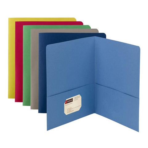 Smead Two-Pocket Heavyweight Folder, Letter Size, Assorted Colors, 25 per Box (87850)