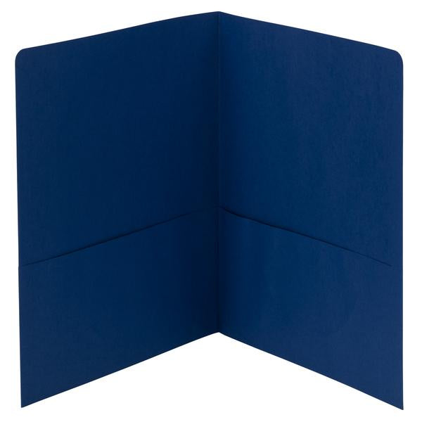 Smead Two-Pocket Heavyweight Folder, Letter Size, Dark Blue, 25 per Box (87854)