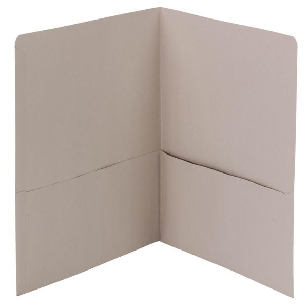 Smead Two-Pocket Heavyweight Folder, Letter Size, Gray, 25 per Box (87856)