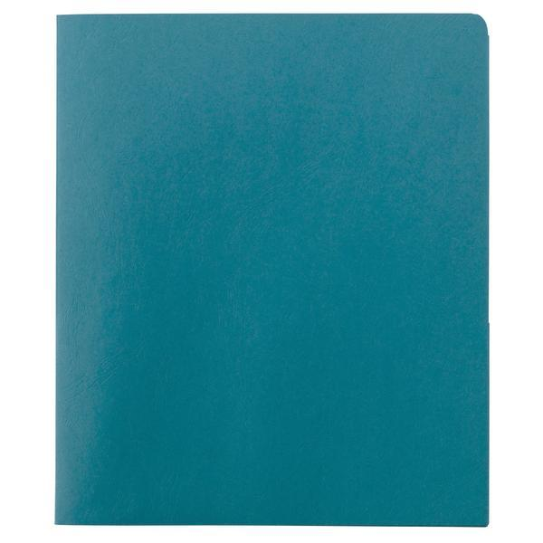 Smead Two-Pocket Heavyweight Folder, Letter Size, Teal, 25 per Box (87867)