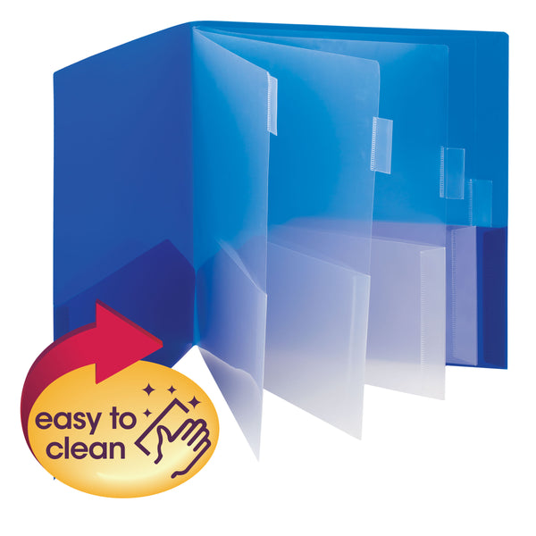 Smead Poly Subject File Folder, 10 Pockets, Letter Size, Assorted Colors (89203)