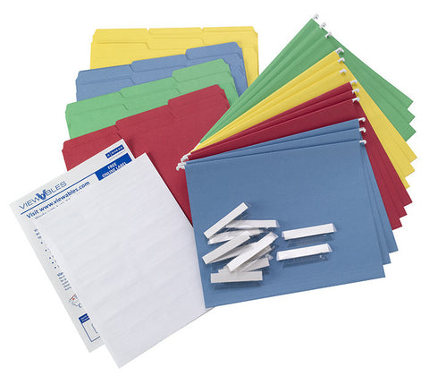 Smead Hanging and Interior Folder Kit, 1/3-Cut Tab, Letter Size, Assorted Colors (92002)