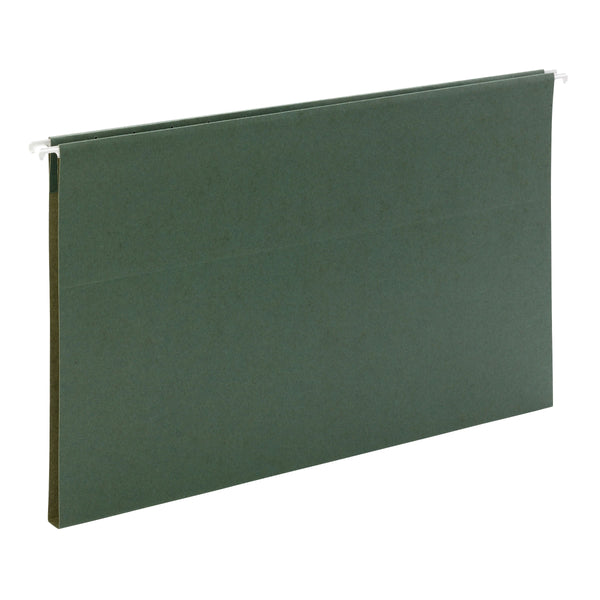 "Smead Reveal Hanging Folders with SuperTab® Folders Kit, 1/2"" Expansion, 1/3-Cut Oversized Tabs, Legal Size, Green/Manila (92017)"