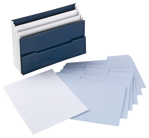 Mini Stadium® File with SuperTab® Folder and Viewables Labels Kit, Oversized 1/3-Cut Tab, Letter Size, Navy Blue (92036)