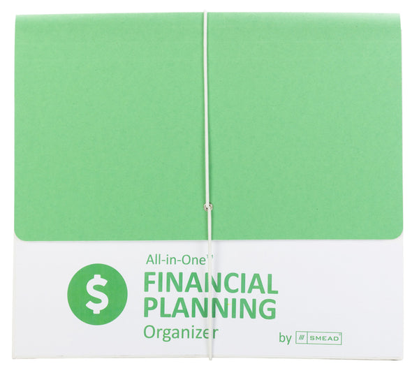 Smead All-in-One™ Financial Planning Organizer, 13 Pockets, Letter Size, Flap with Elastic Closure, Green/White (92071)