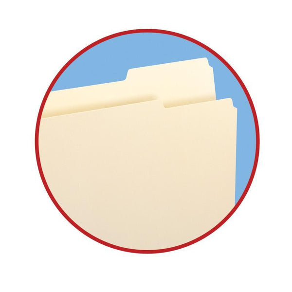 Smead File Folder, 2/5-Cut Tab Right Position, Guide Height, Letter Size, Manila, 100 per Box (10385)