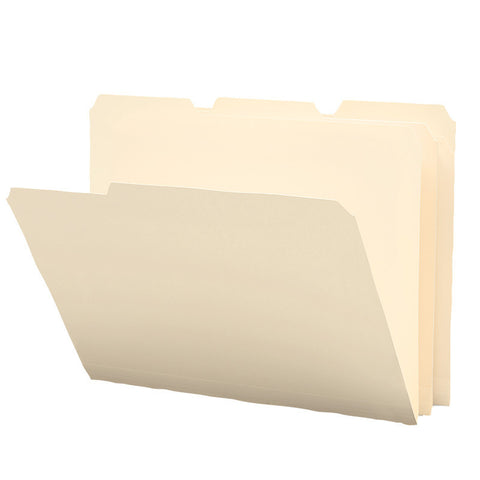 Smead Poly File Folder, 1/3-Cut Tab, Letter Size, Manila, 12 per Pack (10510)