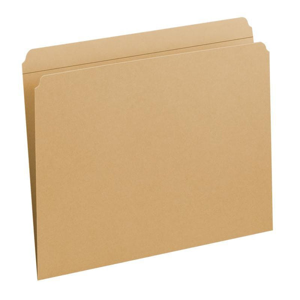Smead File Folder, Reinforced Straight-Cut Tab, Letter Size, Kraft, 100 per Box (10710)
