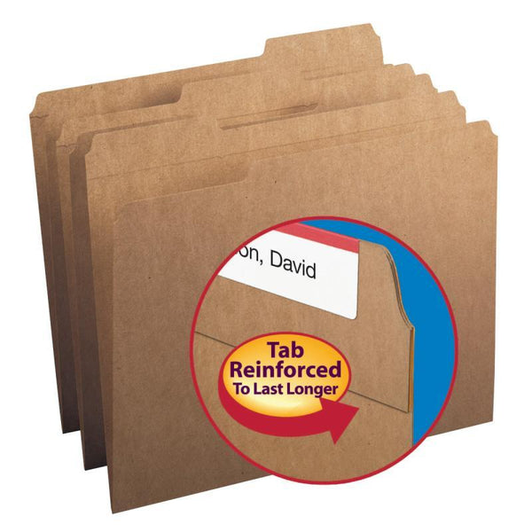 Smead File Folder, 1/3-Cut Tab, Letter Size, Kraft, 50 per Box (10830)