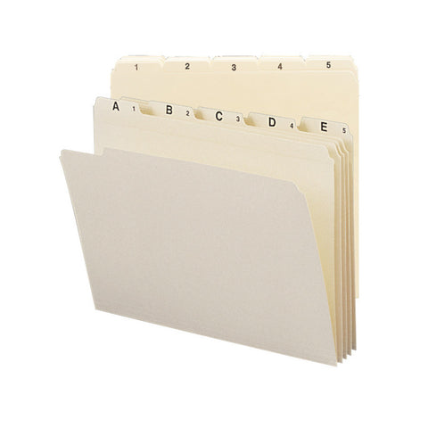 Smead Indexed File Folder Set, Daily (1-31) Folders, Reinforced 1/5-Cut Tab, Letter Size, Manila, 31 per Set (11769)