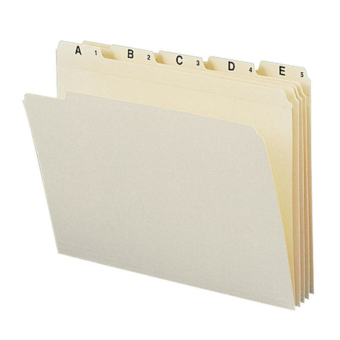 Smead Indexed File Folder Set, Alphabetic (A-Z) Folders, Reinforced 1/5-Cut Tab, Letter Size, Manila, 25 per Set (11777)