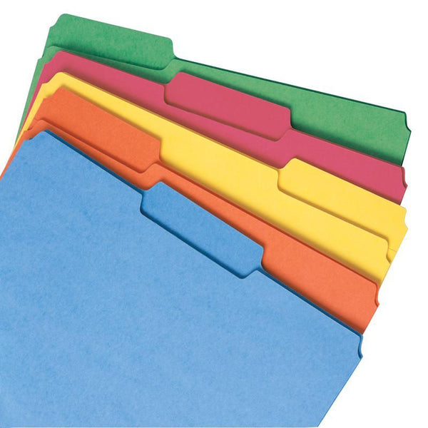 Smead File Folder, 1/3-Cut Tab, Letter Size, Assorted Colors, 100 per Box, (11943)