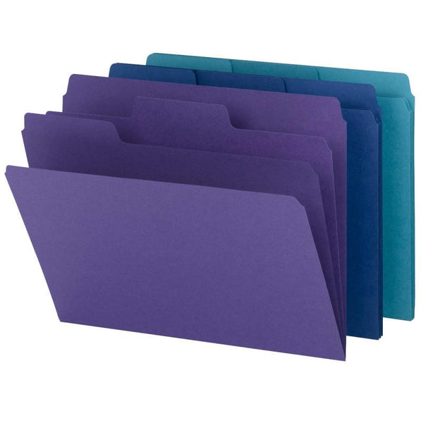 Smead SuperTab® Organizer File Folder, Oversized 1/3-Cut Tab, Letter Size, Assorted Colors, 3 per Pack (11989)