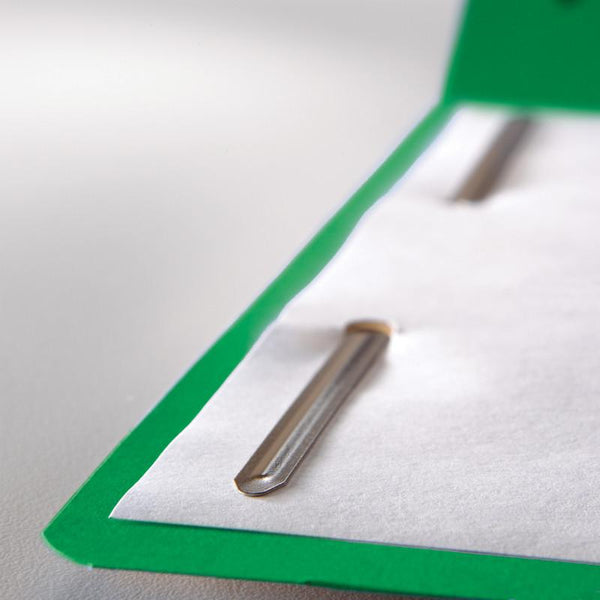 Smead WaterShed®/CutLess® Fastener Folder, 2 Fasteners, Reinforced 1/3-Cut Tab, Letter Size, Green, 50 per Box (12142)