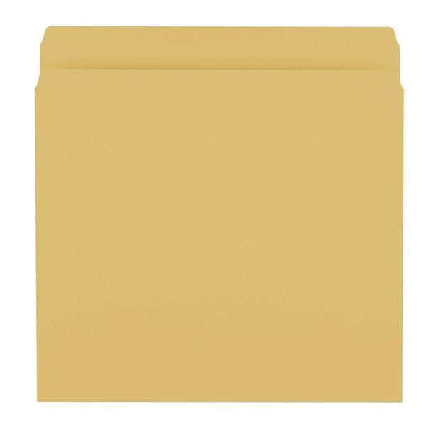 Smead File Folder, Reinforced Straight-Cut Tab, Letter Size, Goldenrod, 100 per Box (12210)
