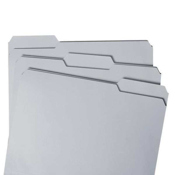 Smead File Folder, Reinforced 1/3-Cut Tab, Letter Size, Gray, 100 per Box (12334)