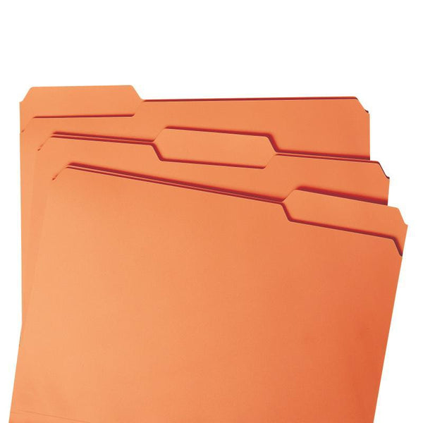 Smead File Folder, 1/3-Cut Tab, Letter Size, Orange, 100 per Box (12543)