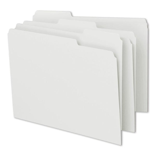 Smead File Folder, 1/3-Cut Tab, Letter Size, White, 100 per Box (12843)