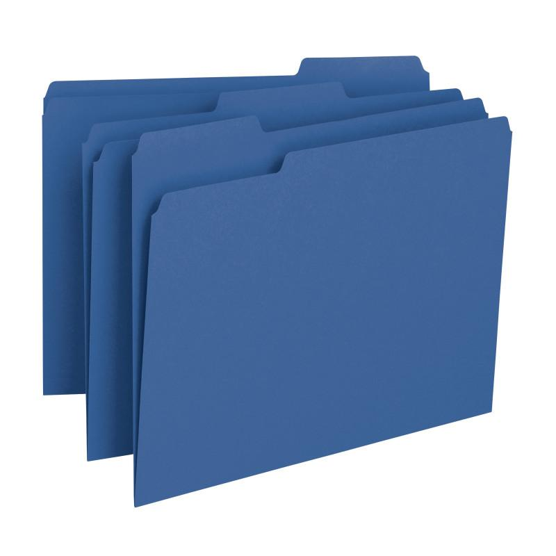 Smead File Folder, 1/3-Cut Tab, Letter Size, Navy, 100 per Box (13193)