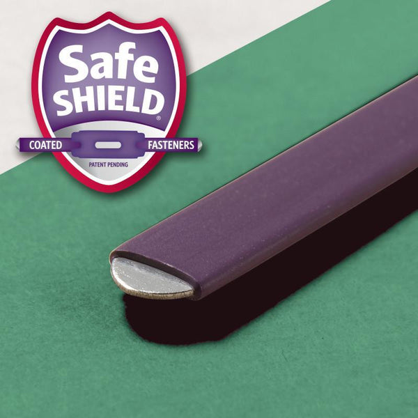 "Smead Pressboard Classification File Folder with SafeSHIELD® Fasteners, 1 Divider, 2"" Expansion, Letter Size, Green, 10 per Box (13733)"