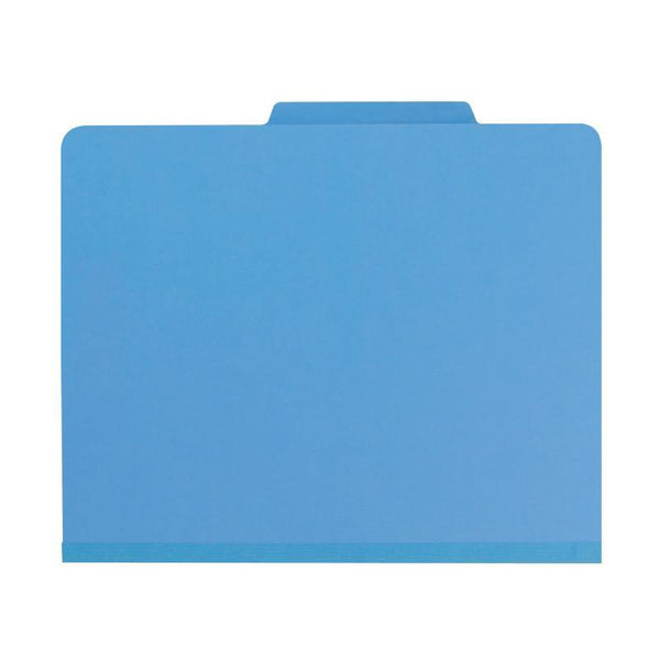 "Smead Classification File Folder, 2 Divider, 2"" Expansion, Letter Size, Blue, 10 per Box (14001)"