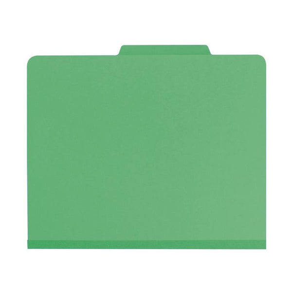 "Smead Classification File Folder, 2 Divider, 2"" Expansion, Letter Size, Green, 10 per Box (14002)"