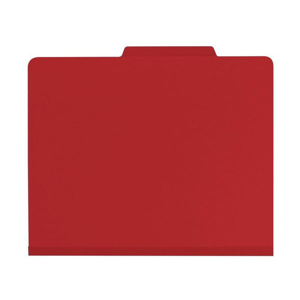 "Smead Classification File Folder, 2 Divider, 2"" Expansion, Letter Size, Red, 10 per Box (14003)"