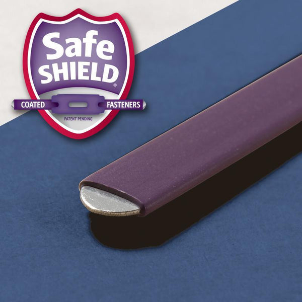 "Smead PressGuard® Classification File Folder with SafeSHIELD® Fasteners, 2 Dividers, 2"" Expansion, Letter Size, Dark Blue, 10 per Box (14200)"