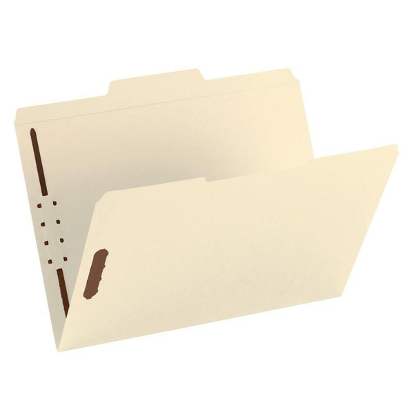 Smead Fastener File Folder, 2 Fasteners, Reinforced 2/5-Cut Tab Right Of Center Position, Guide Height, Letter Size, Manila, 50 per Box (14580)