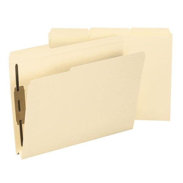 "Smead Fastener File Folder, 2 Fasteners, Reinforced 1/3-Cut Tab, 1-1/2"" Expansion, Letter Size, Manila, 50 per Box (14595)"
