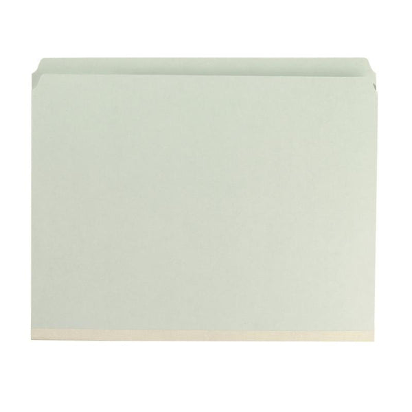 "Smead Pressboard Fastener File Folder, 2 Fasteners, Straight-Cut Tab, 2"" Expansion, Letter Size, Gray/Green, 25 per Box (14910)"