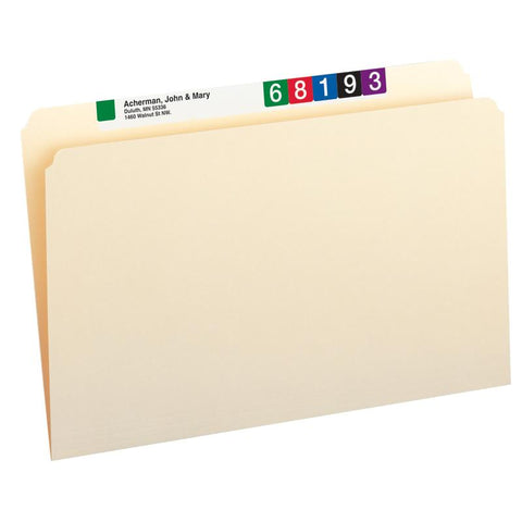 Smead File Folder, Straight-Cut, Legal Size, Manila, 100 per Box (15300)