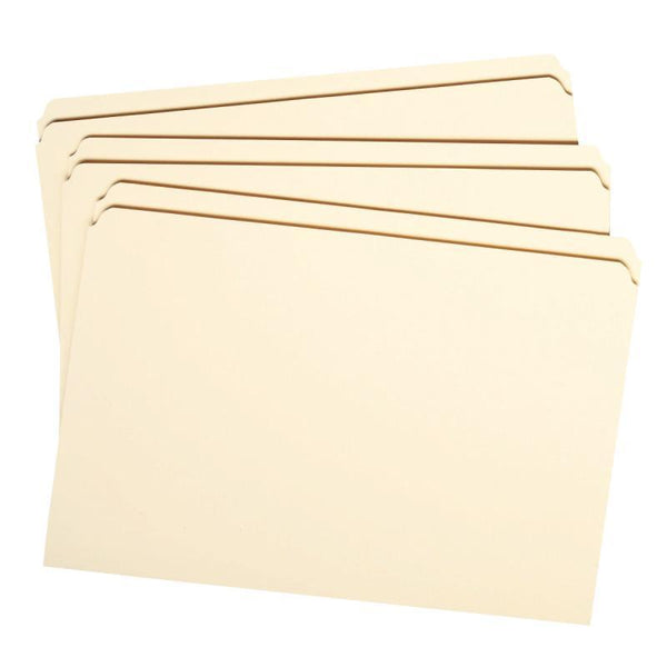 Smead File Folder, Reinforced Straight -Cut Tab, Legal Size, Manila, 100 per Box (15310)