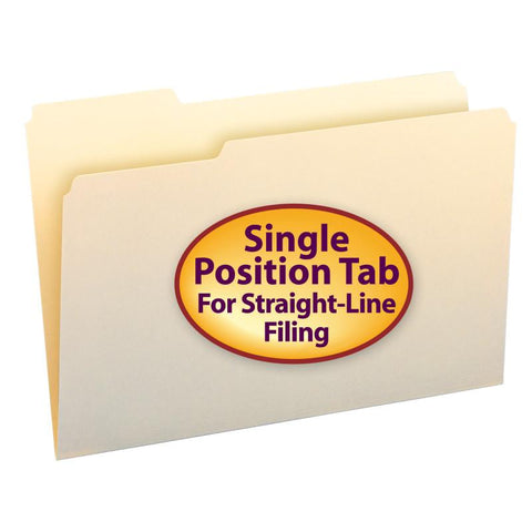 Smead File Folder, 1/3- Cut Tab Left Position, Legal Size, Manila, 100 per Box (15331)