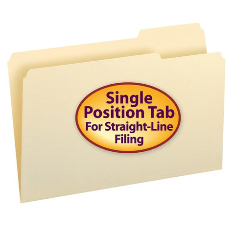 Smead Manila Folder, 1/3-Cut Tab Right Position, Legal Size, 100 per Box (15333)