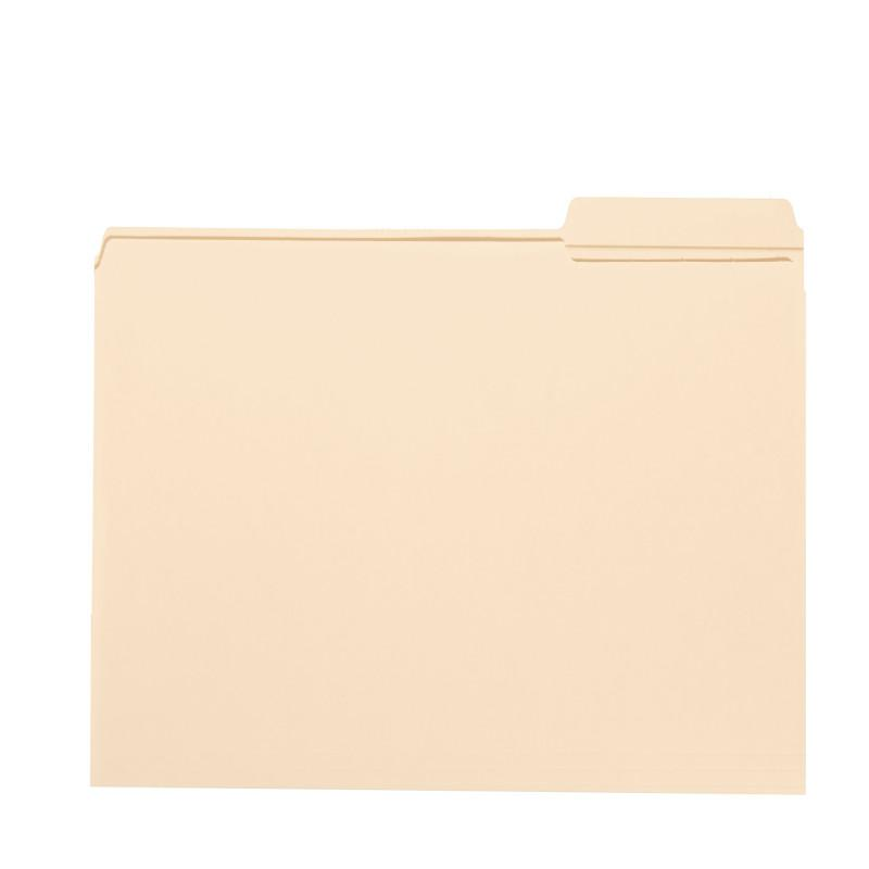 Smead File Folder, Reinforced 1/3-Cut Tab Right Position, Legal Size, Manila, 100 per Box (15337)