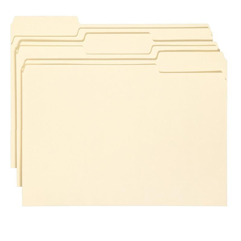 Smead File Folder with Antimicrobial Product Protection, 1/3-Cut Tab, Legal Size, Manila, 100 per Box (15338)