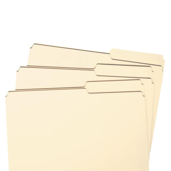 Smead File Folder, Reinforced 2/5-Cut Tab Right Position, Guide Height, Legal Size, Manila, 100 per Box (15386)