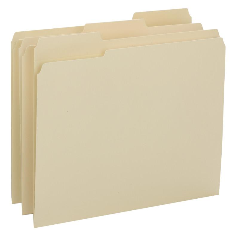 Smead File Folder, Reinforced 1/3-Cut Tab, Assorted Positions, Legal Size, Manila, 100 per Box (15434)