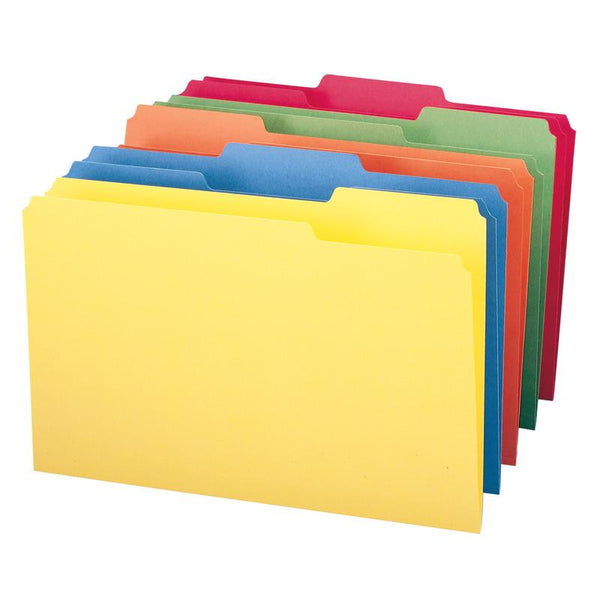 Smead File Folder, 1/3-Cut Tab, Legal Size, Assorted Colors, 100 per Box (16943)