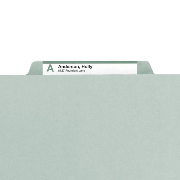 "Smead Pressboard File Folder, 1/3-Cut Tab, 2"" Expansion, Legal Size, Gray/Green, 25 per Box (18234)"
