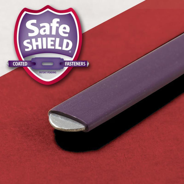"Smead Pressboard Classification File Folder with SafeSHIELD® Fasteners, 2 Dividers, 2"" Expansion, Legal Size, Bright Red, 10 per Box (19031)"