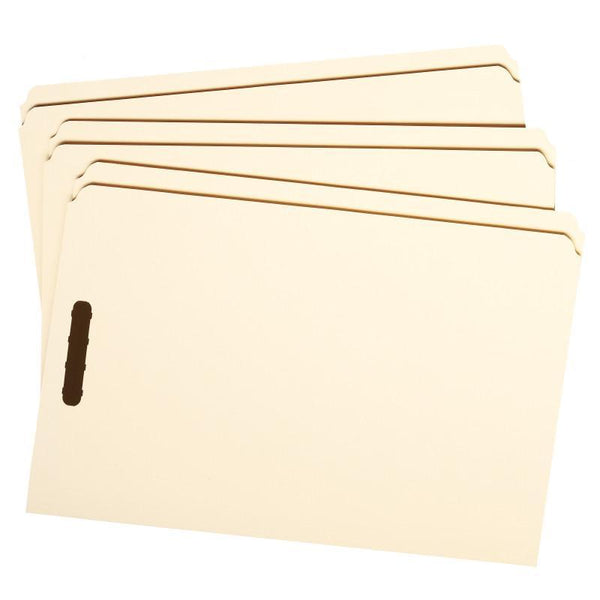 Smead Fastener File Folder, 2 Fasteners, Straight-Cut Tab, Legal Size, Manila, 50 per Box (19513)