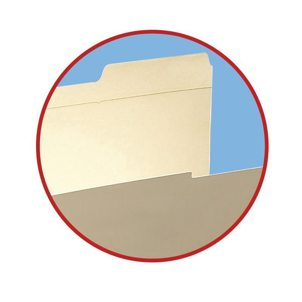 Smead Fastener File Folder, 2 Fasteners, Reinforced  2/5-Cut Tab Right Position, Guide Height, Legal Size, Manila, 50 per Box (19587)