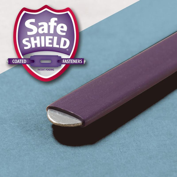"Box of 25 Smead Pressboard File Folder with SafeSHIELD® Fasteners, 2 Fasteners, 1/3-Cut Tab, 2"" Expansion, Legal Size, Blue (19937)"