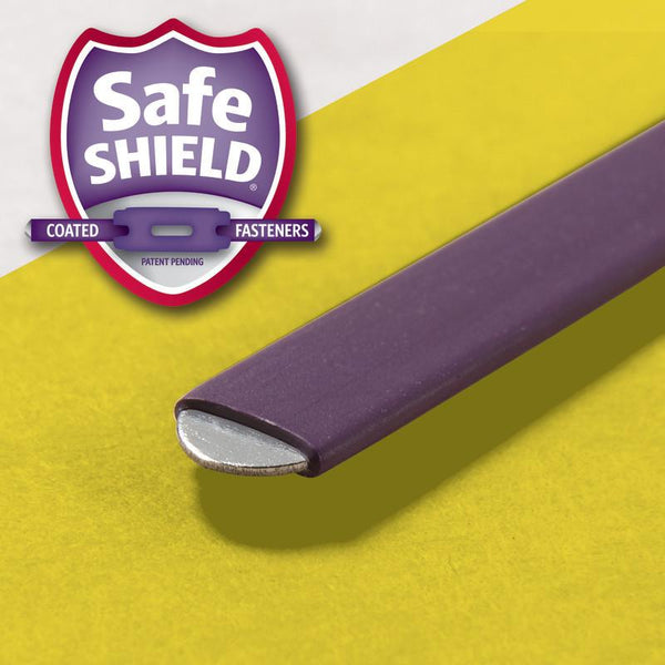 "Box of 25 Smead Pressboard File Folders with SafeSHIELD® Fasteners, 2 Fasteners, 1/3-Cut Tab, 2"" Expansion, Legal Size, Yellow (19939)"