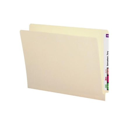 Smead End Tab File Folder with Antimicrobial Product Protection, Reinforced Straight-Cut Tab, Letter Size, Manila, 100 per Box (24113)