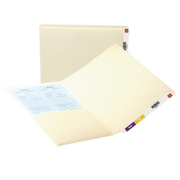Smead End Tab Pocket Folder, Reinforced Straight-Cut Tab, 1 Pocket, Letter Size, Manila, 50 per Box (24115)