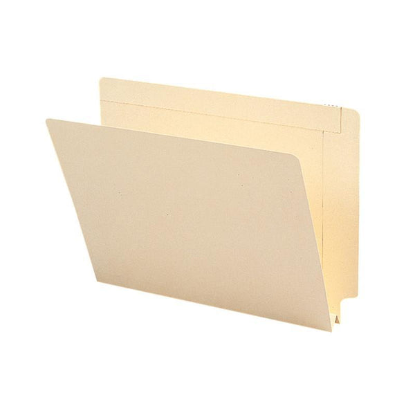 "Smead End Tab File Folder, Reinforced Straight-Cut Tab, 1-1/2"" Expansion, Letter Size, Manila, 50 per Box (24275)"